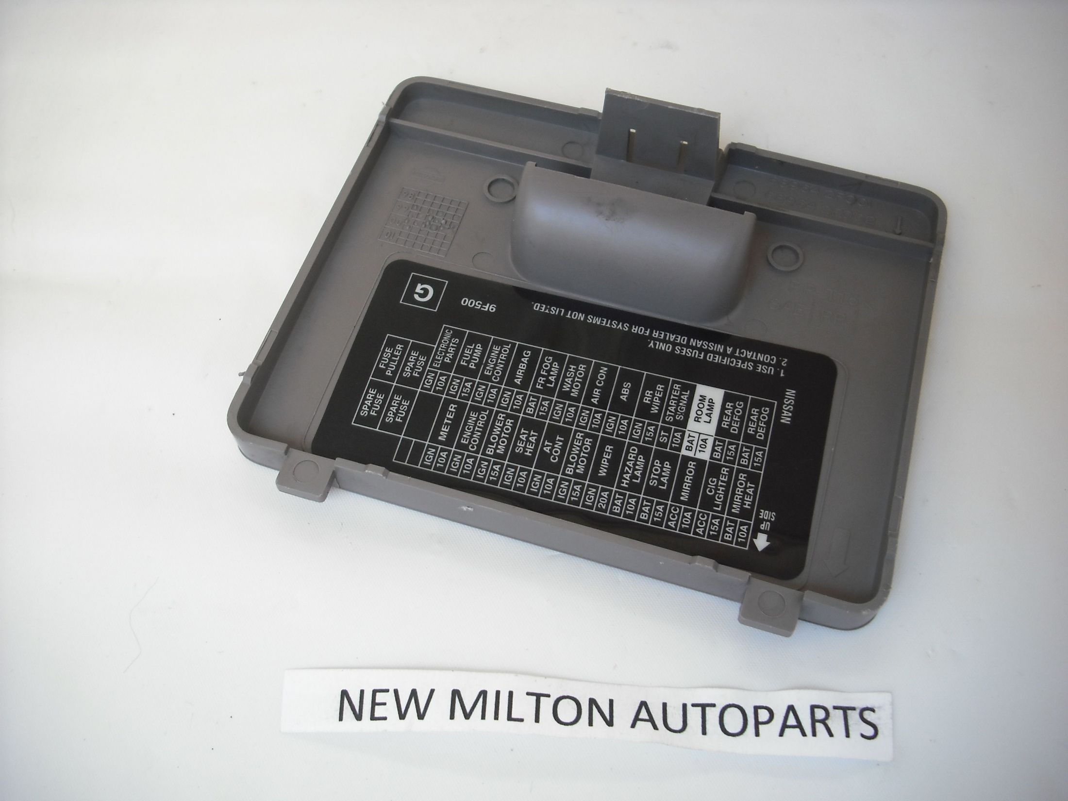 nissan primera p11 1996 2002 interior dash fuse box cover [2] 4243 p primera p11 1996 2002 interior dash fuse box cover fuse box cover at bayanpartner.co